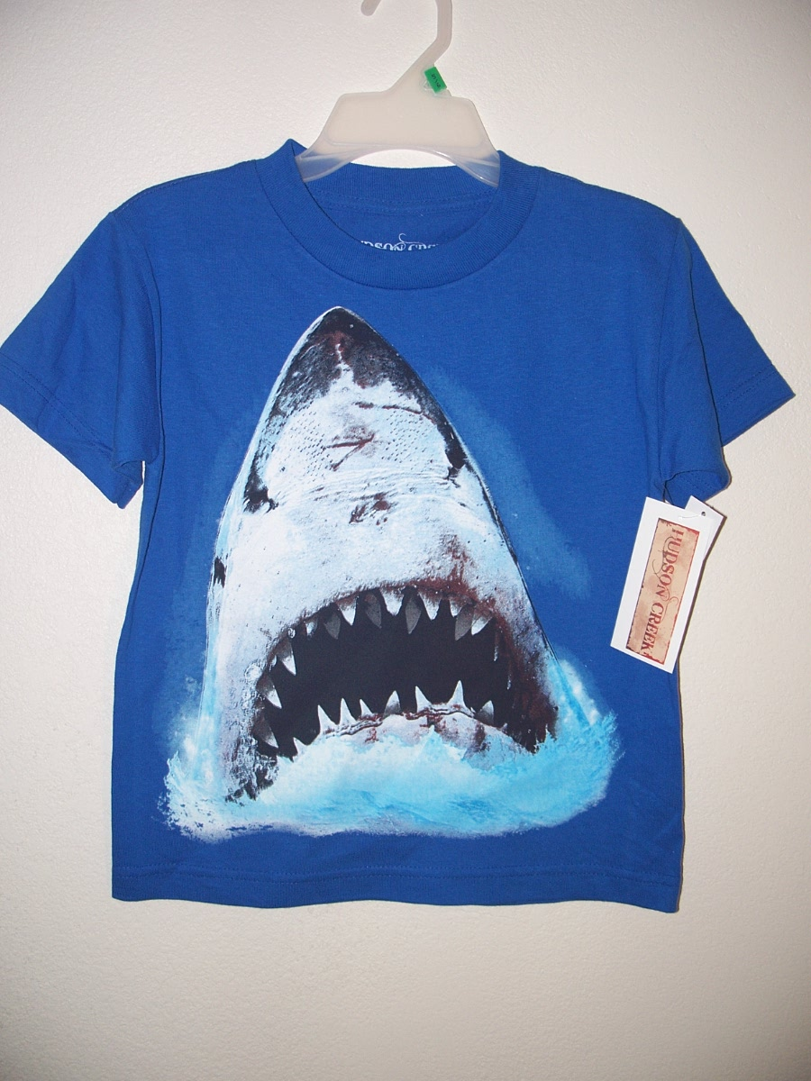 Shark T-Shirt Sz S (Blue)
