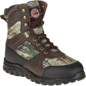 "Brahma Men's 8"" Leather and Camo Hunting Boots"
