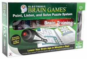 Electronic Brain Games Interactive with 6 Puzzle and PEN