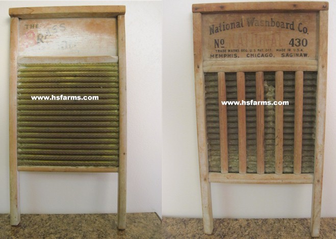 Antique Vintage Primitive Brass National Washboard Co.