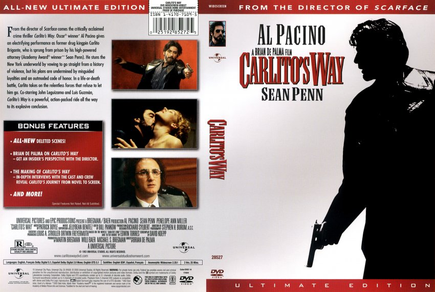 CARLITO'S WAY Ultimate Edition DVD + Slip Case Widescrn