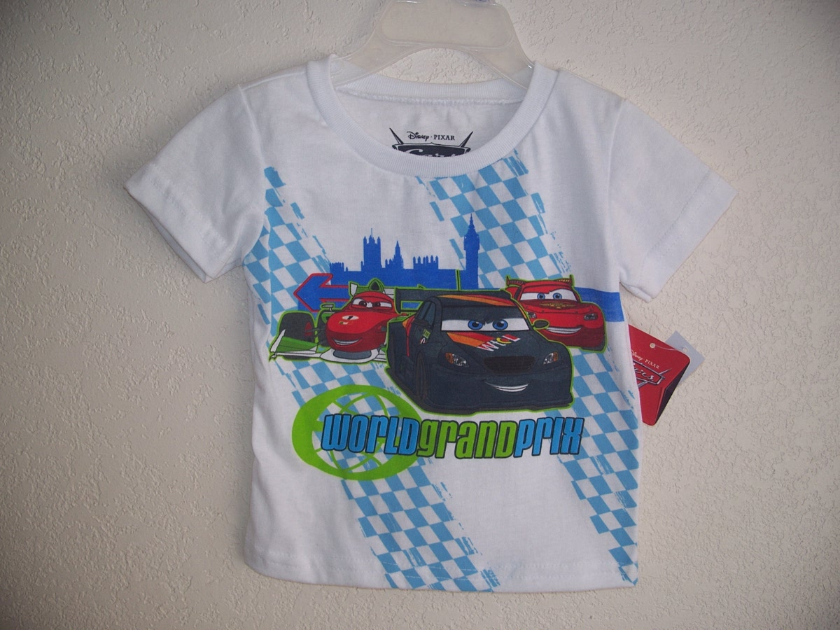 Disney Pixar Cars 2 Sz 18M T-Shirt (white)