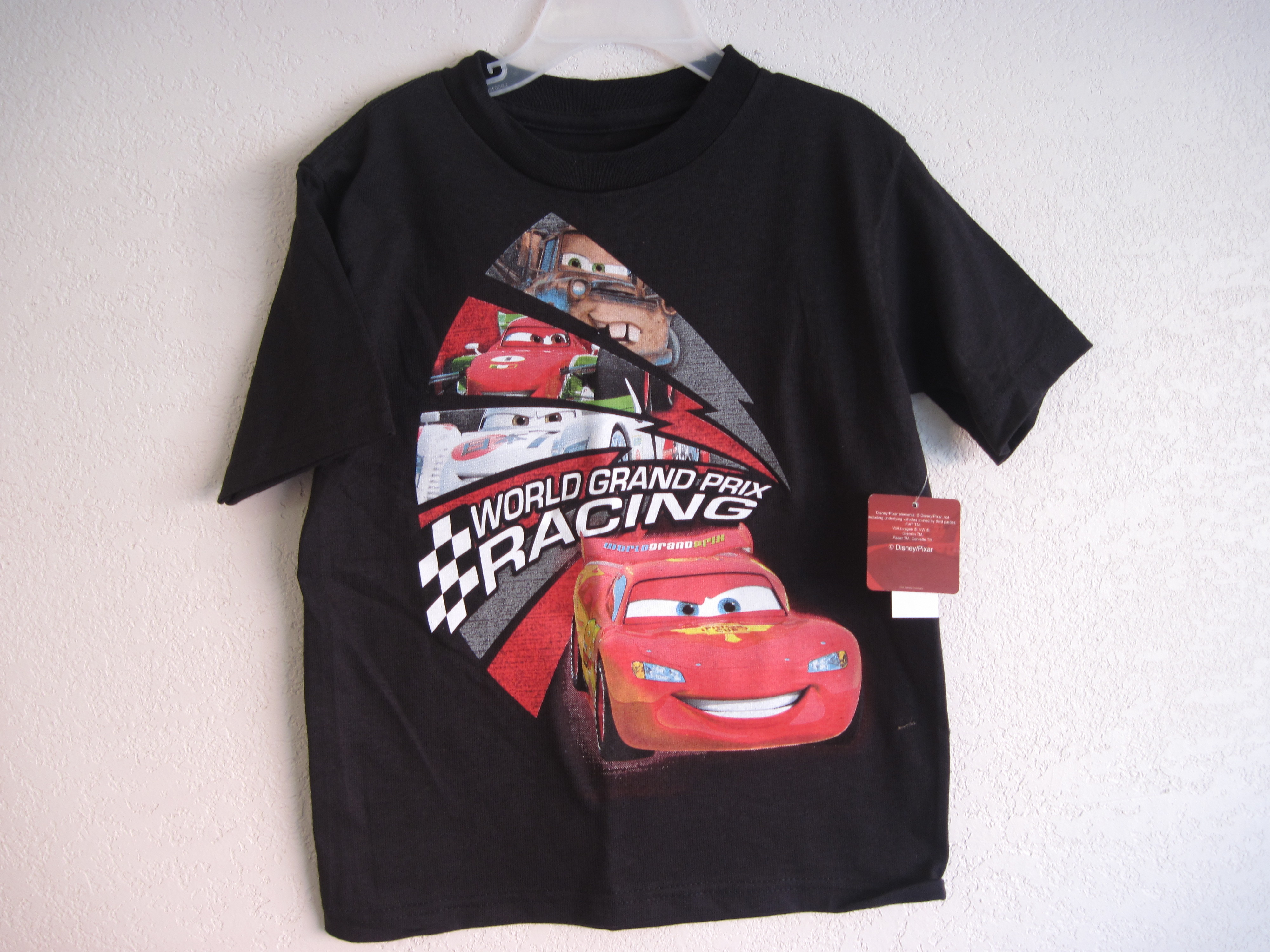 Disneys Cars 2 Sz XS 4 Racing T-Shirt (black)