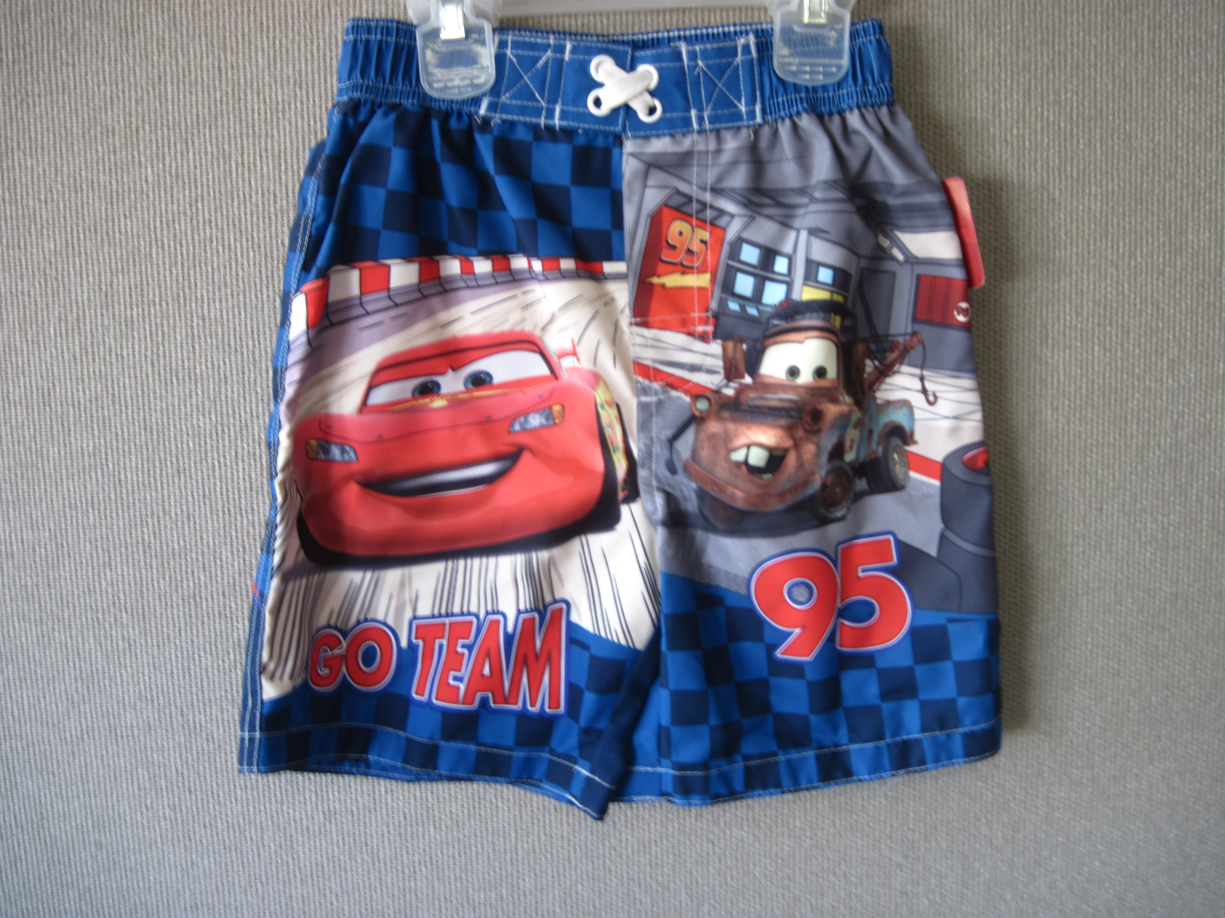 Disney Cars Sz 4T Swim Trunks (Blue) Go Team 95