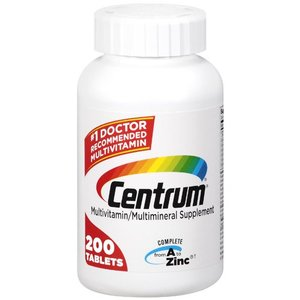 Centrum Multivitamin/Multimineral Supplement Tablets, 200ct