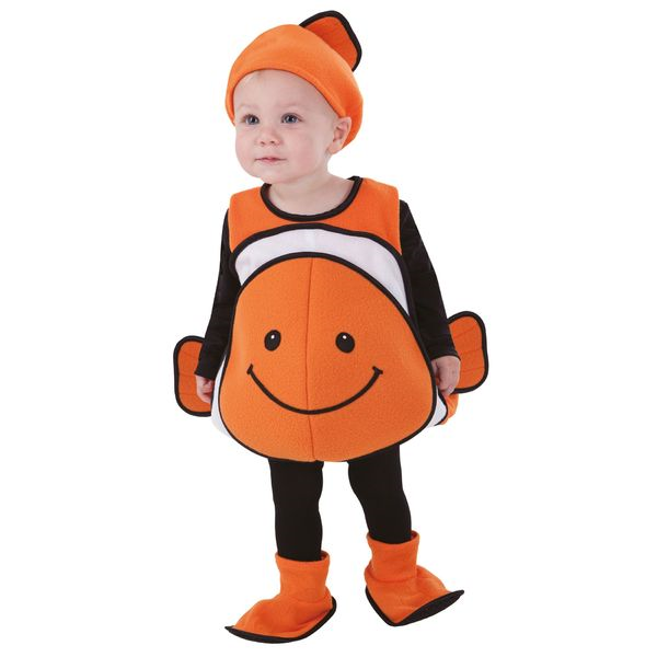 totally ghoul clown fish vest toddler halloween costume 12-24 M