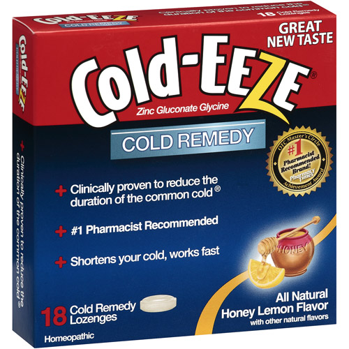 Cold-Eeze Cold Remedy All Natural Honey Lemon Flavor Lozenges, 1