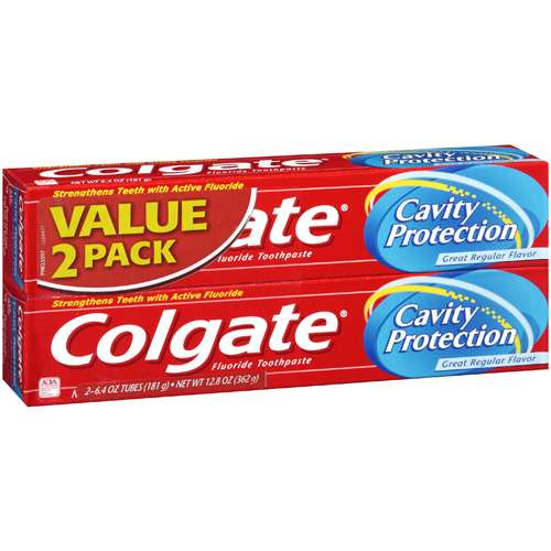 Colgate Fluoride Cavity Protection Toothpaste, 2pk