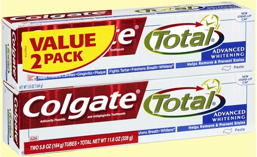 Colgate Total Advanced Whitening Toothpaste Value 2 Pack, 11.6 o