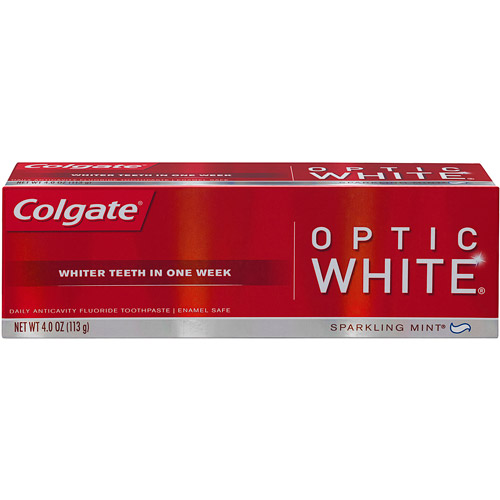 Colgate Optic White Sparkling Mint Toothpaste, 4 oz