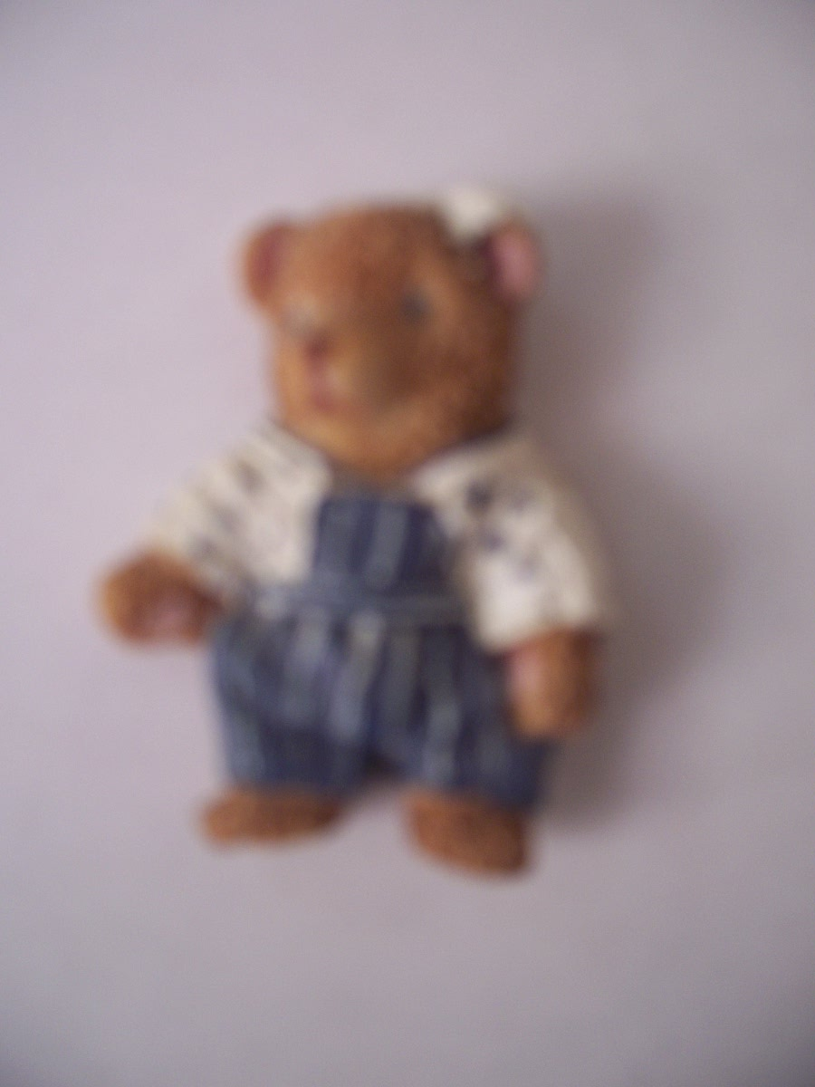 Collectible Bow Bear Refrigerator Magnet