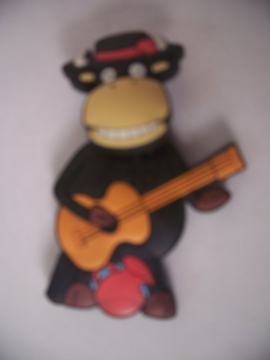 Collectible Guitar Playing Cow Refrigerator Magnet