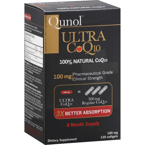 Qunol Ultra 100% Natural COQ10 100mg Softgels, 30ct