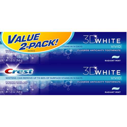Crest 3D White Vivid Fluoride Anticavity Radiant Mint Toothpaste