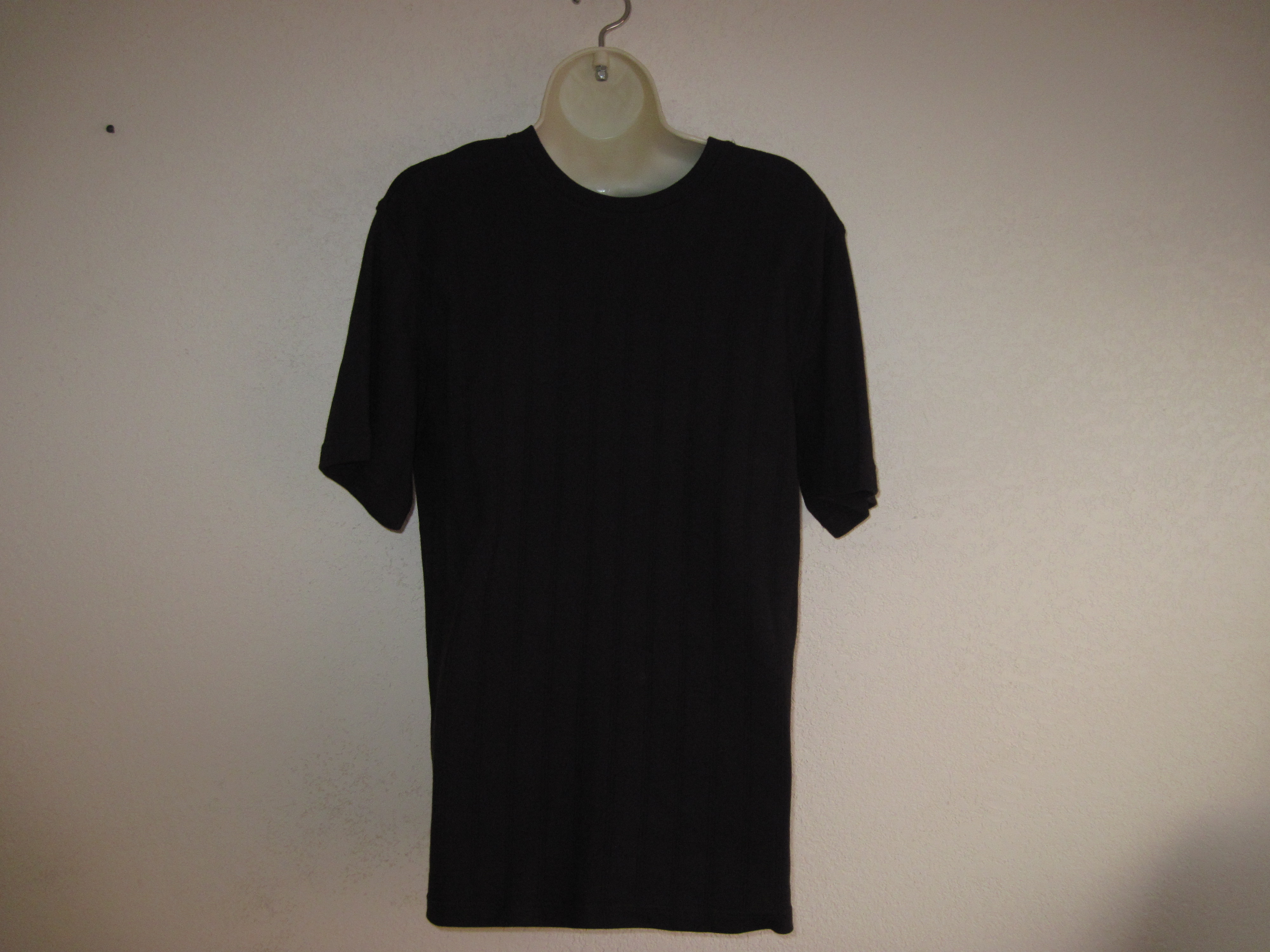 David Taylor Sz S Mens Shirt ( Drop needle Crew)Black