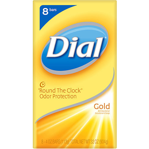 Dial Antibacterial Gold Deodorant Bar Soap, 4 oz 8 pk