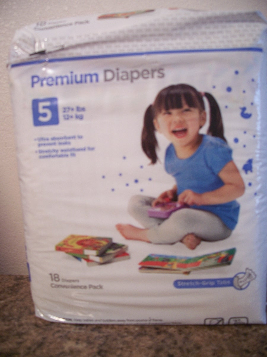 Premium Diapers ( size 5 27lbs. Convenience Pack )