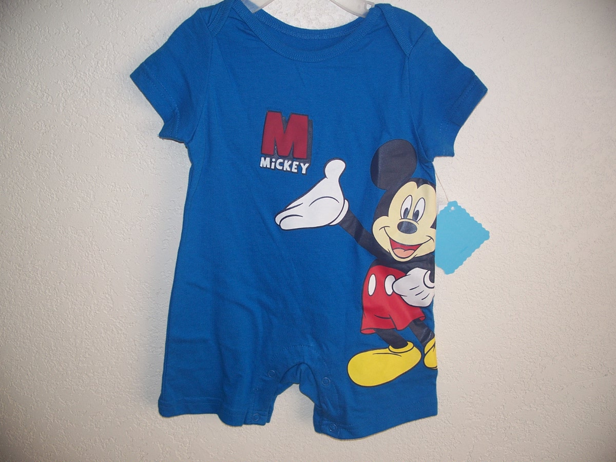 Disney Mickey Mouse Sz 0-3 Months (blue )