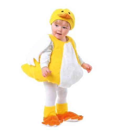 TOTALLY GHOUL DUCK VEST INFANT 1 -2 YEARS Body Hat Shoes