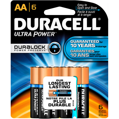 Duracell Ultra Power Now with Power Check 6 AA Batteries