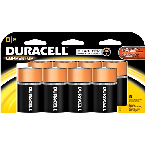 Duracell Coppertop D Batteries 8 Count