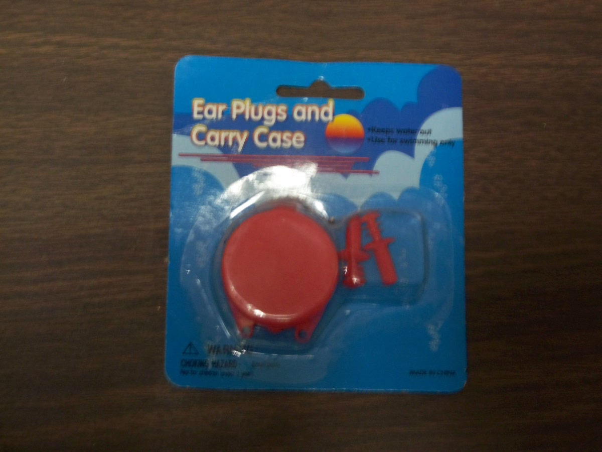 Ear Plugs and Carry Case (Red)