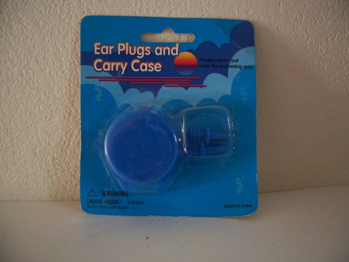 Ear Plugs and Carry Case - Blue