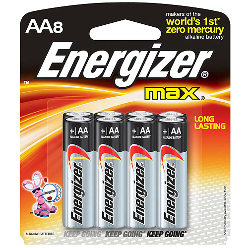 Energizer Max AA, 8 Pack