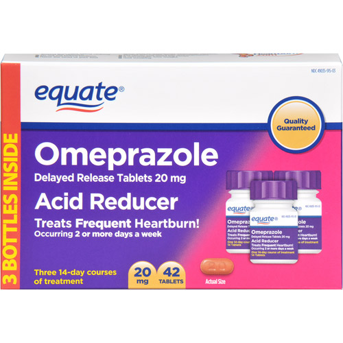 Equate Omeprazole Delay Release Tablets 20Mg Acid Reducer 42 ct