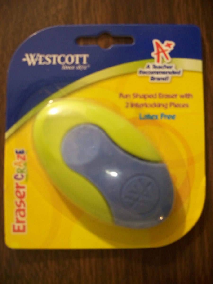 Westcott Eraser Craze (green/blue )