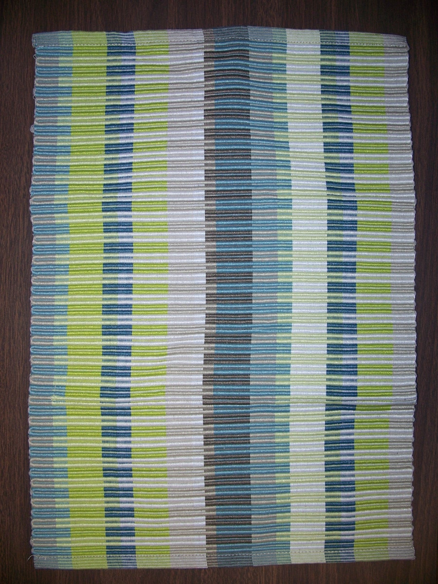 Fabric Placemat Blue,Green,Brown,Tan,White