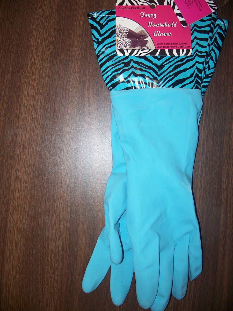 Faney Household Gloves (blue/black )