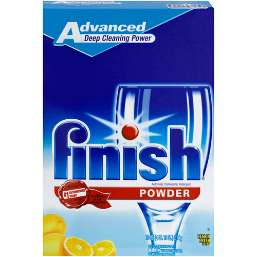Finish Powder Dishwasher Detergent, Lemon Fresh Scent, 75 oz.