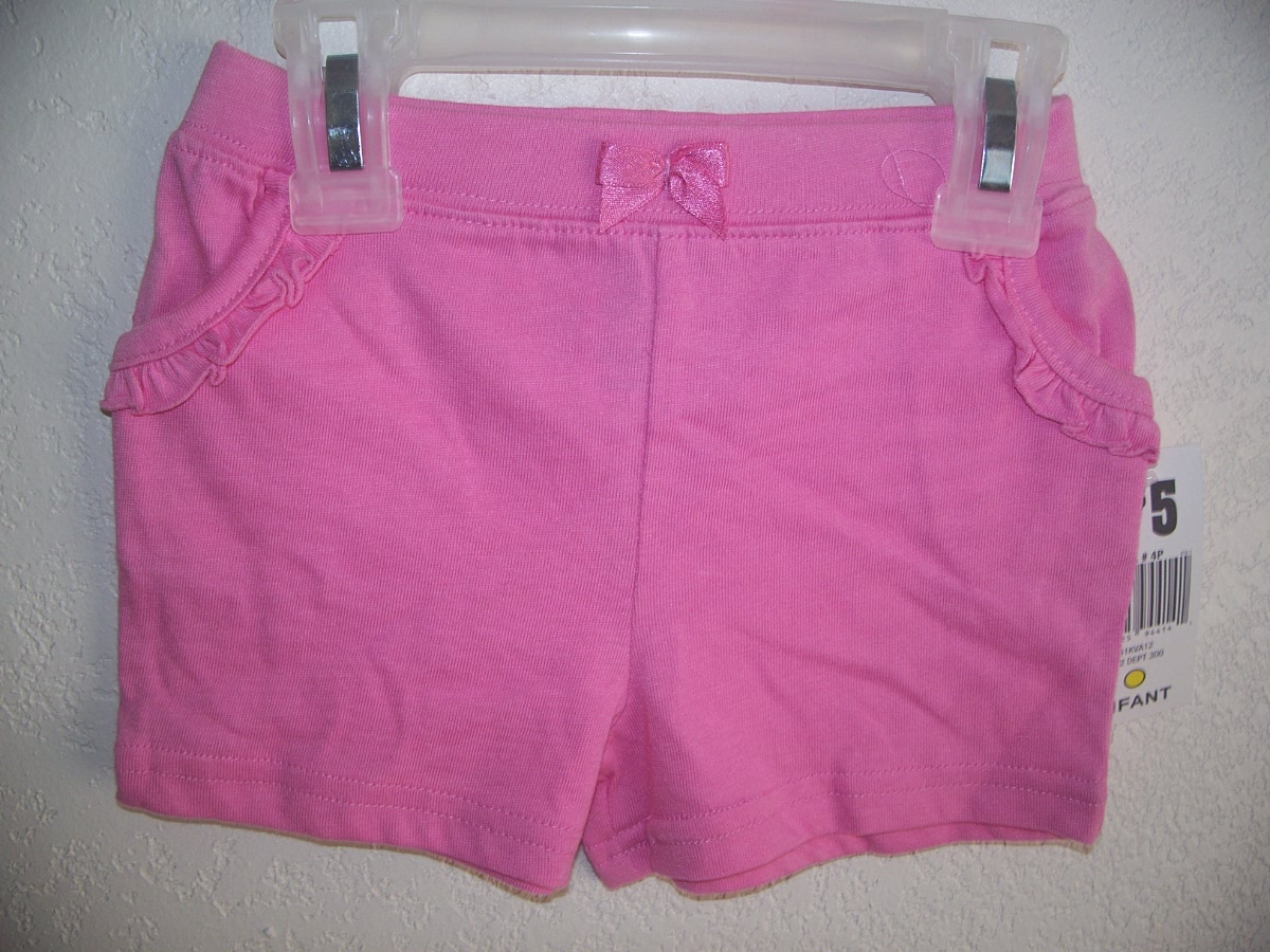 Fisher-Price Sz 18 Mos Pocketed Shorts Pink