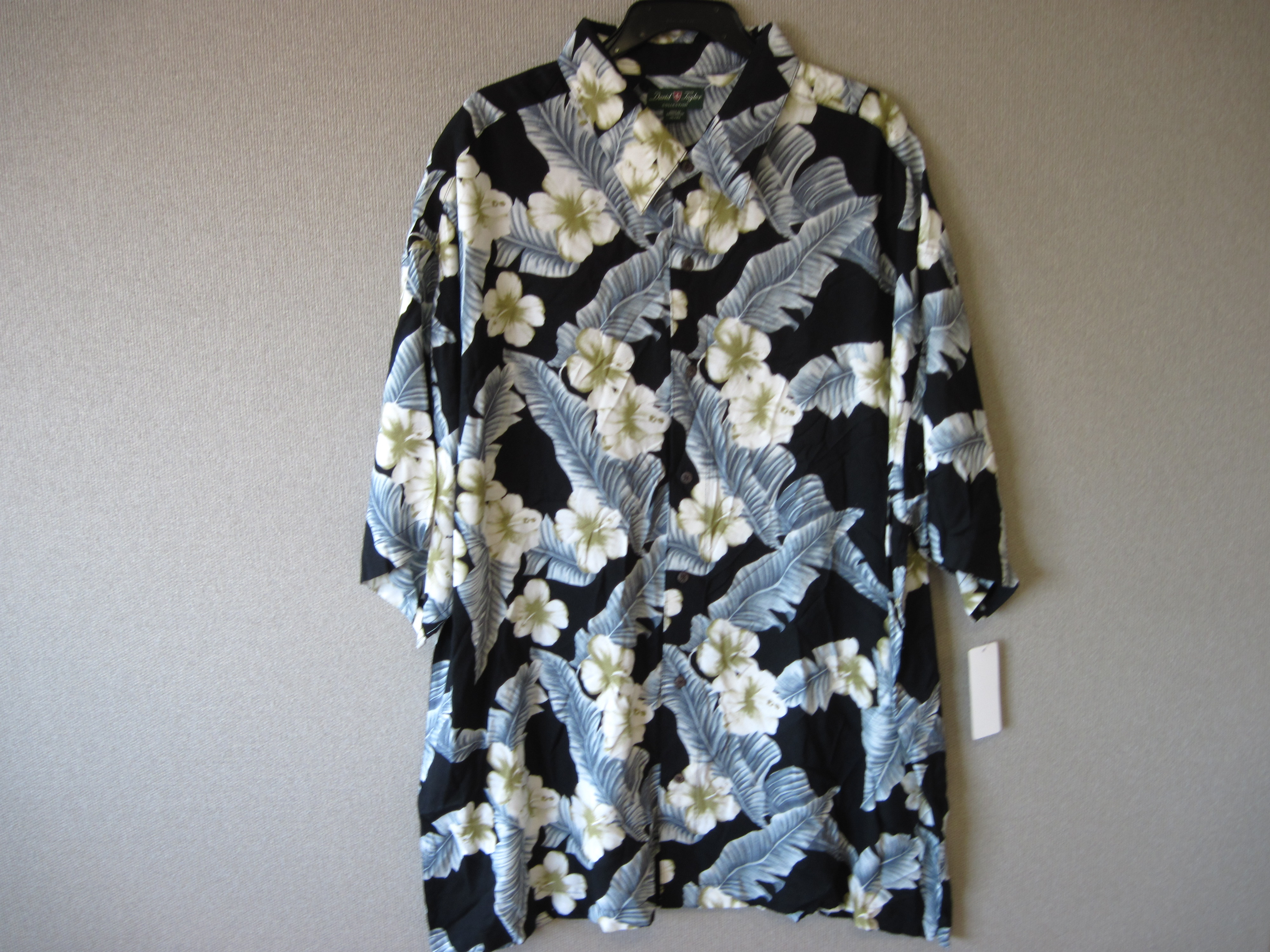 David Taylor Sz 2XL Mens Floral Print Shirt
