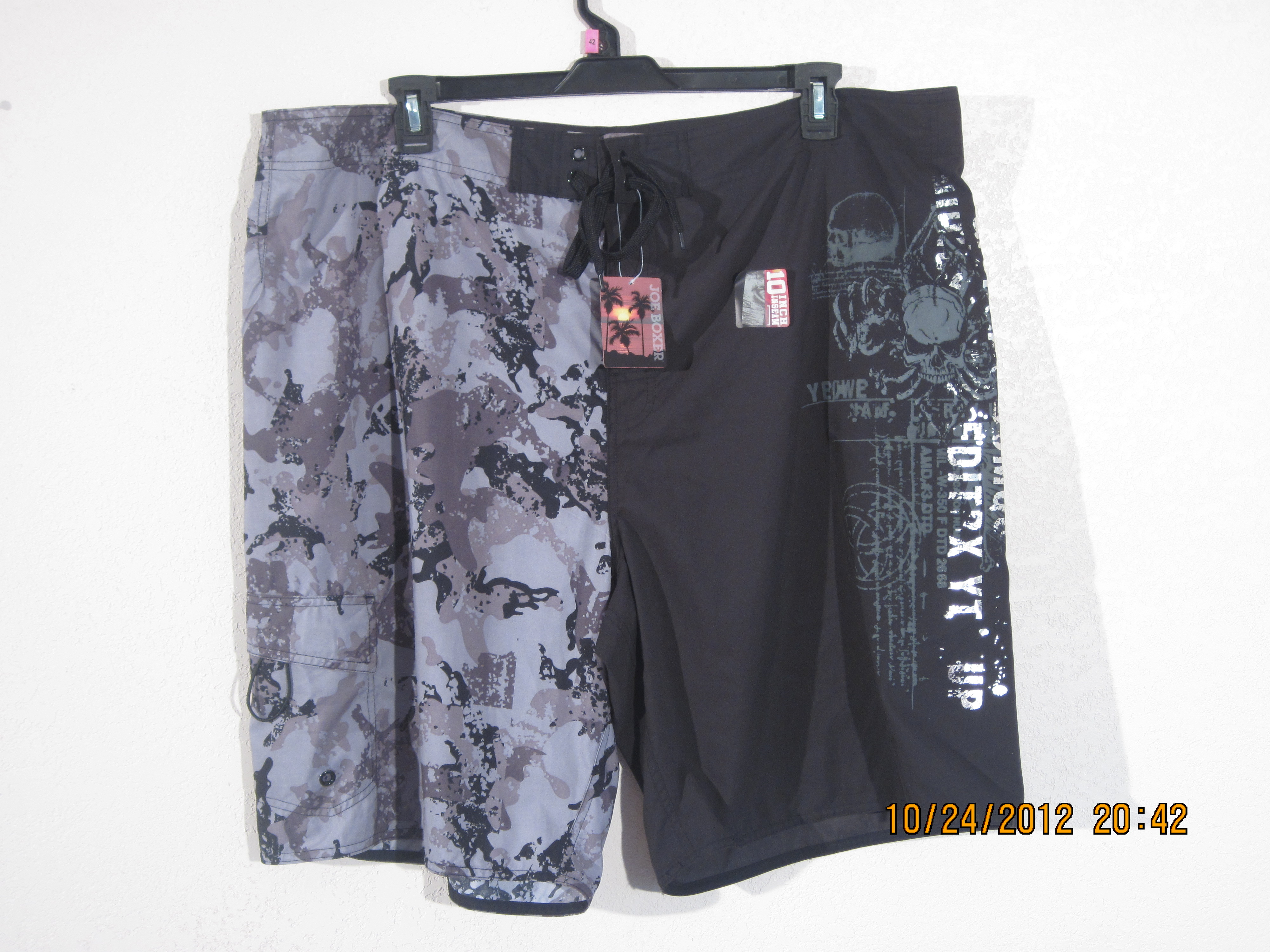 Joe Boxer Sz 42 Mens Swim Shorts Foil/Camo