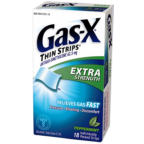 Gas-X Extra Strength Antigas Peppermint Thin Strips, 18ct