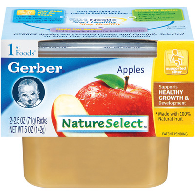 Gerber 1st Foods Baby Food - Applesauce - 1 Pack (2 tubs)