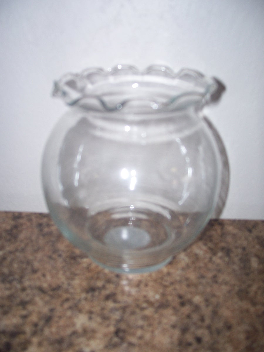 Glass Candle Holder 5 1/2""