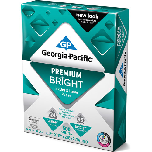 "Georgia-Pacific Premium Inkjet and Laser Paper, 8.5"" x 11"", 500"