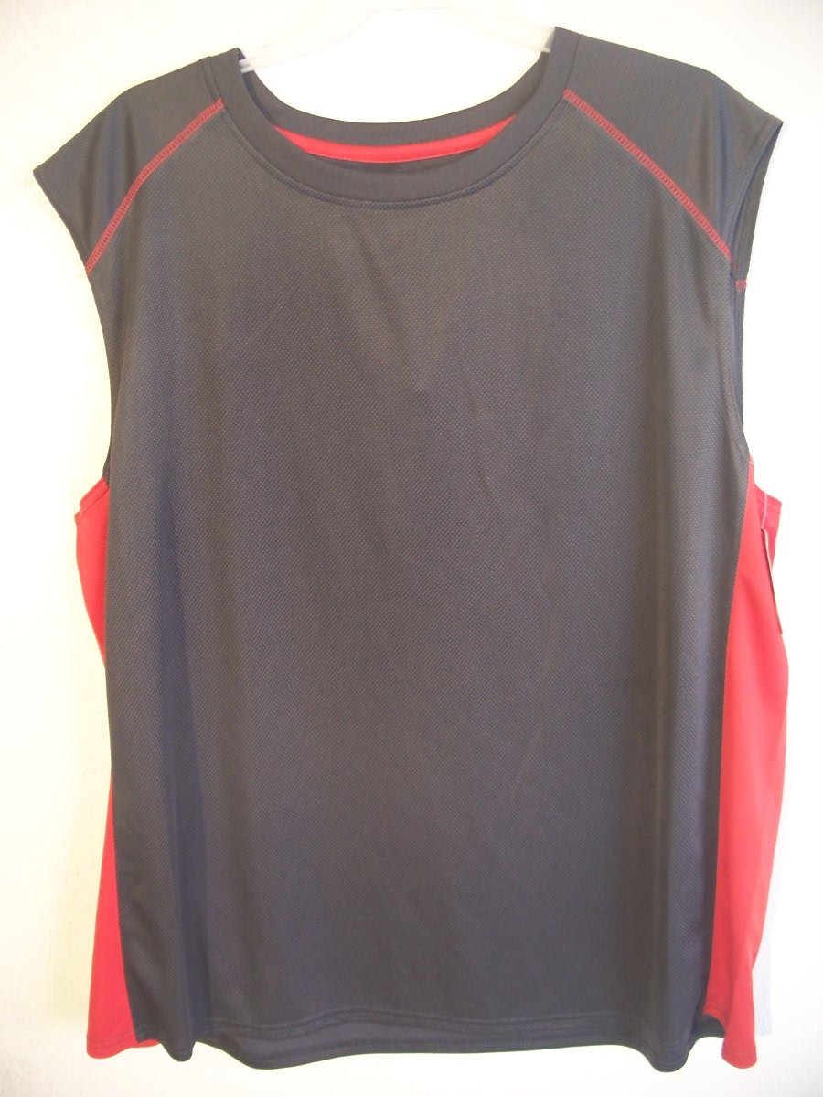 Open Trails Sz 2X-L Gray,Red down the Sides SleevelessShirt