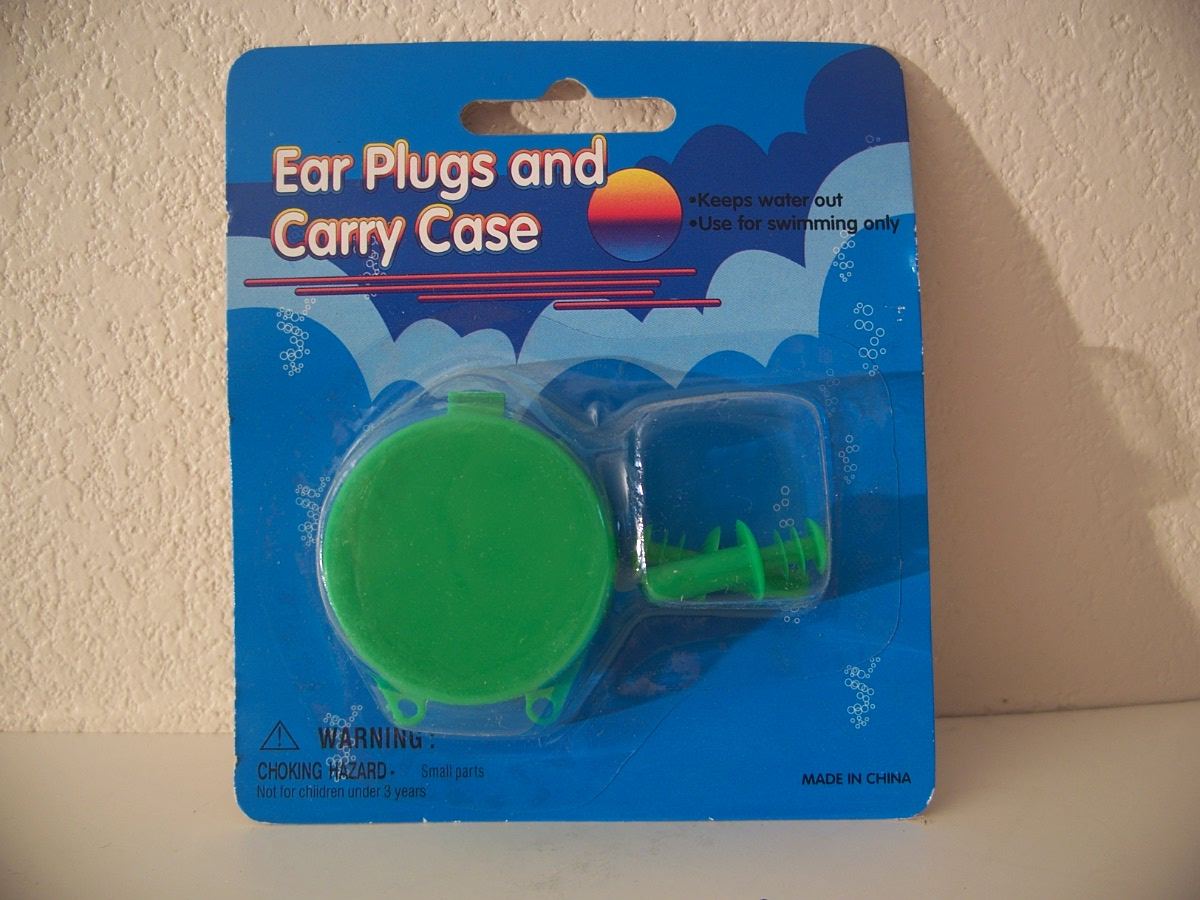 Ear Plugs and Carry Case - Green