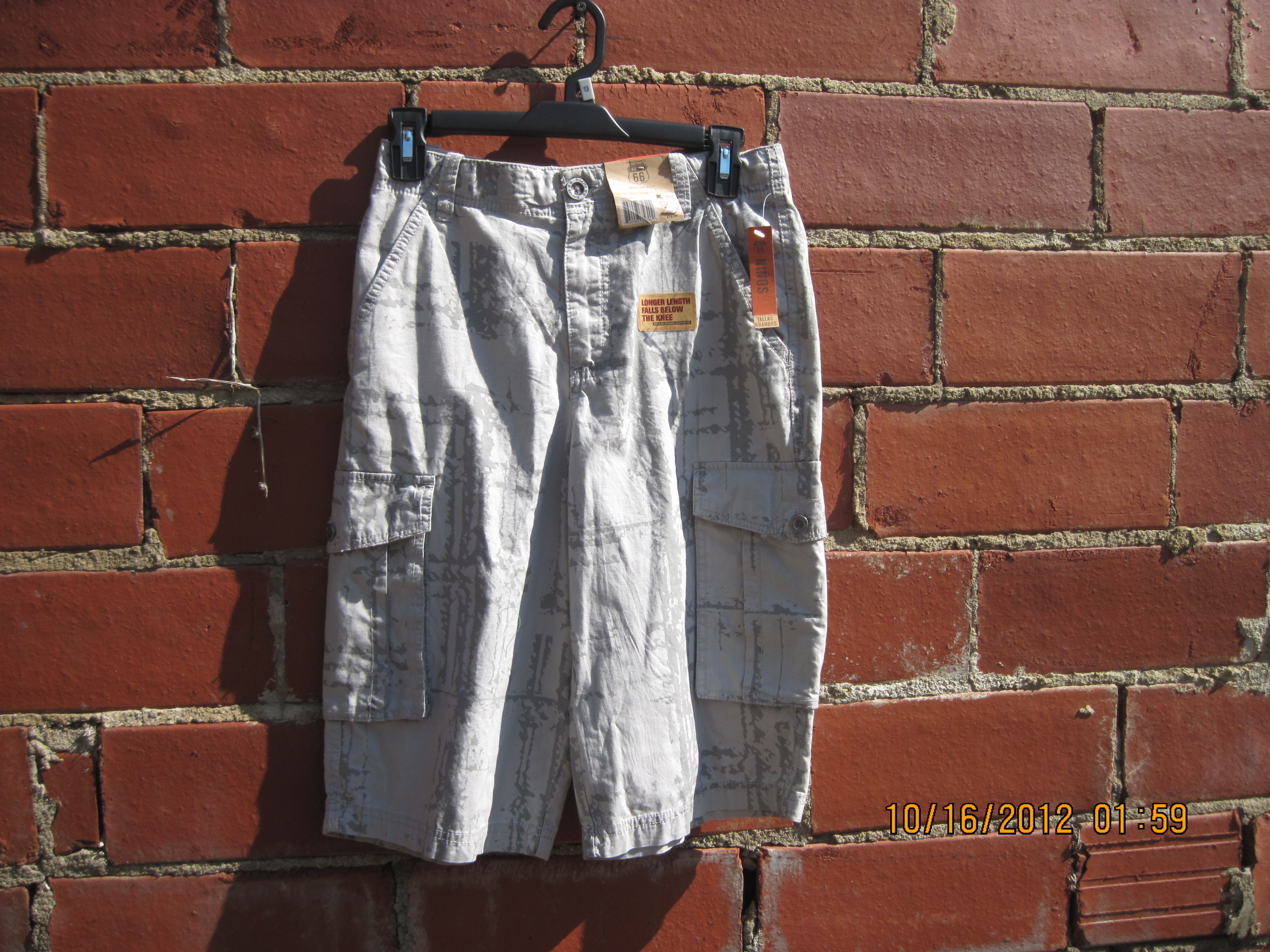 Route 66 Sz 12H Grey Camo Shorts