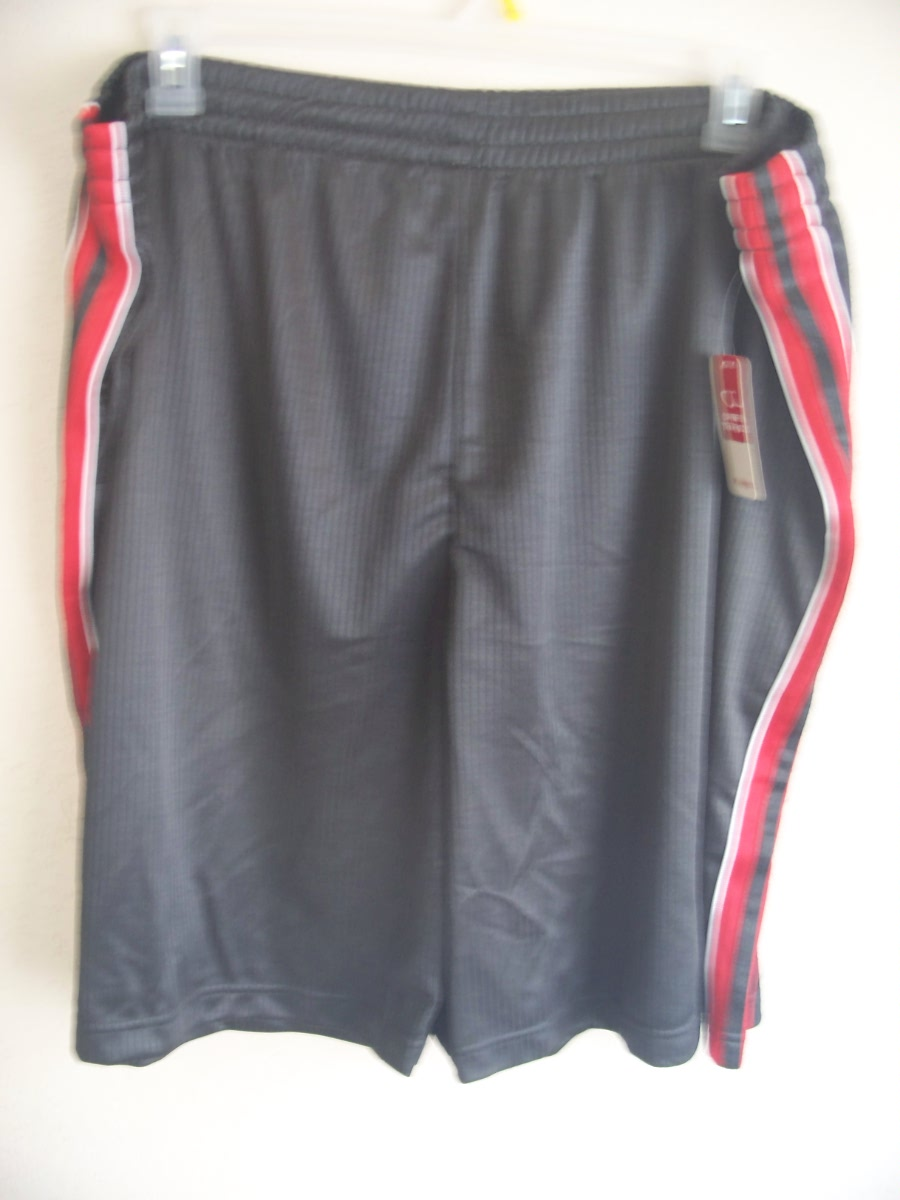 Open Trails Sz 2X-Lg Mesh Activewear Shorts (grey,red,white)
