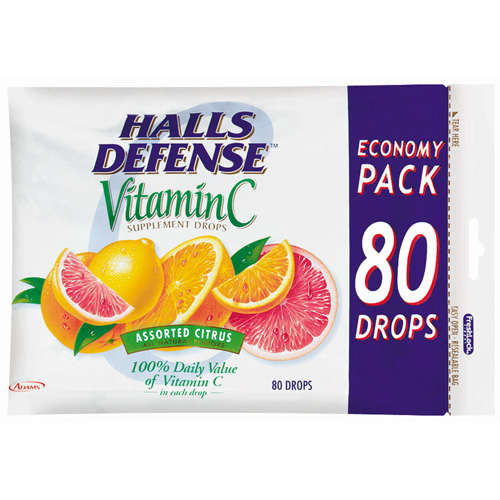 Halls Defense Vitamin C Drops, 80ct
