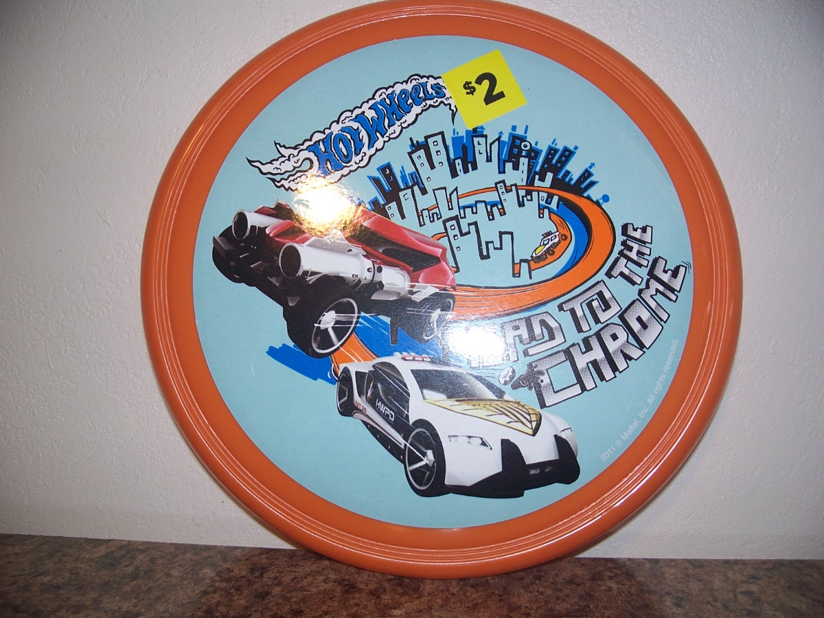 Hot Wheels Orange Frisbee