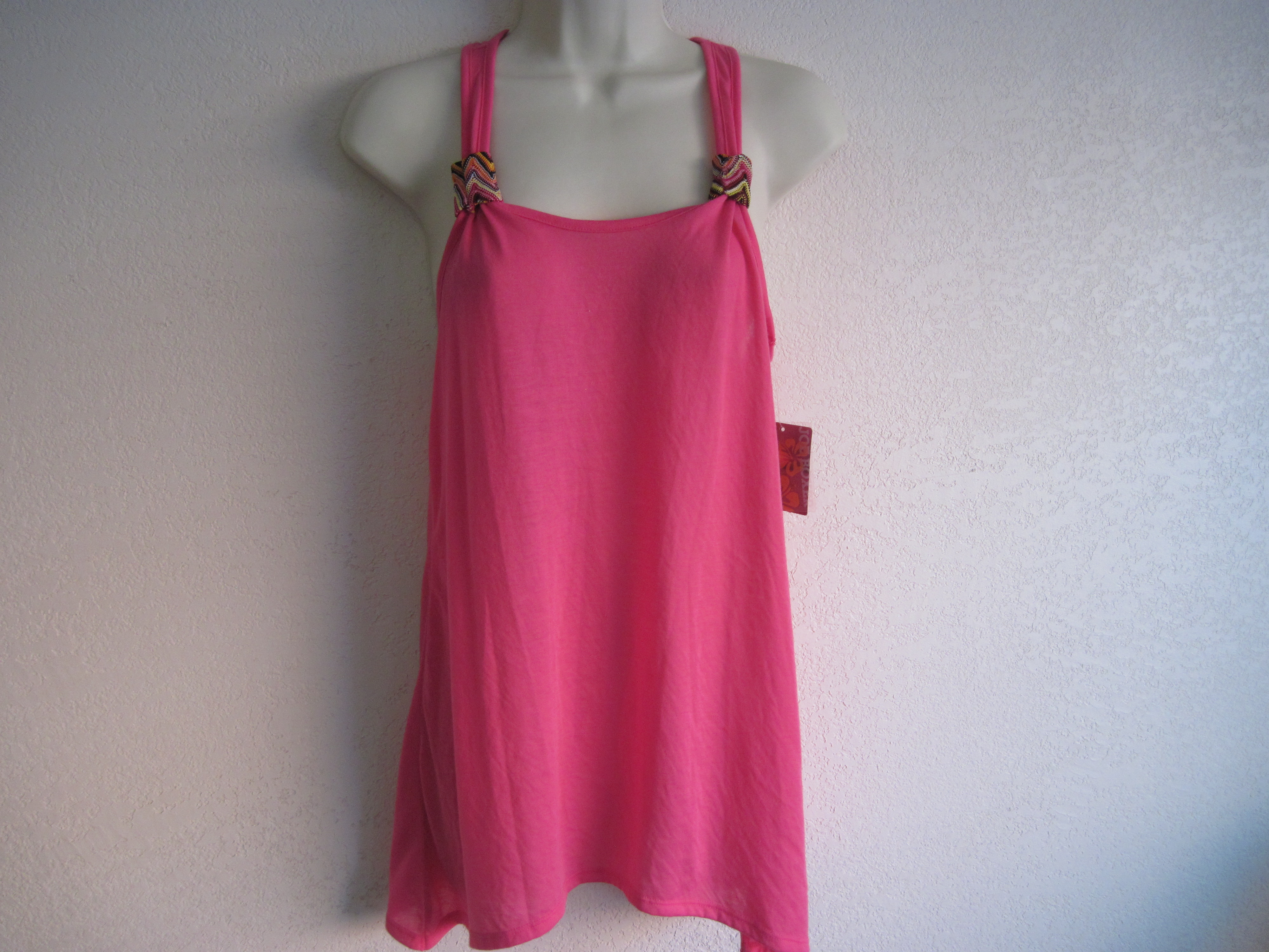 Joe Boxer Sz Small Juniors Ladies Cover-Up Tank (hot pink)