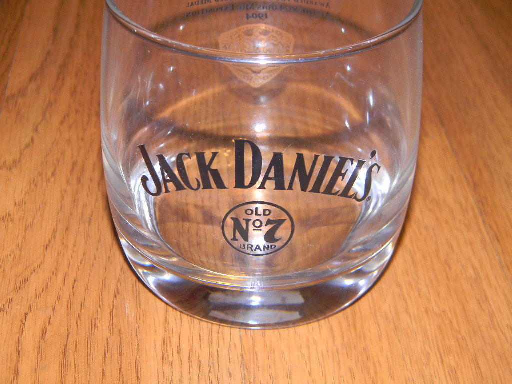 Jack Daniel's Old No 7 Brand Lowball Cocktail Glass Gold Medalis