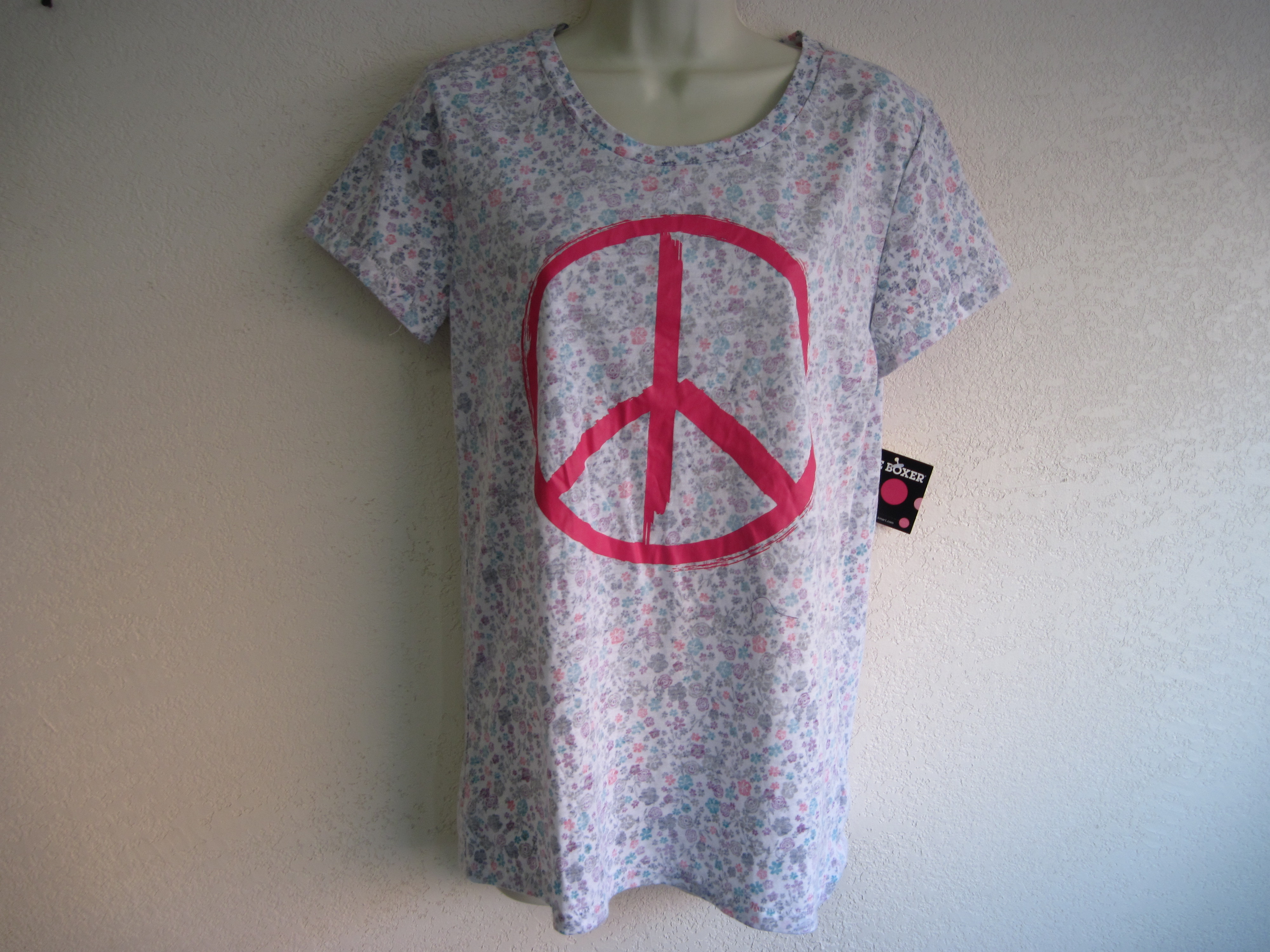 Joe Boxer Sz Lg Womens Sleep Shirt (peace)