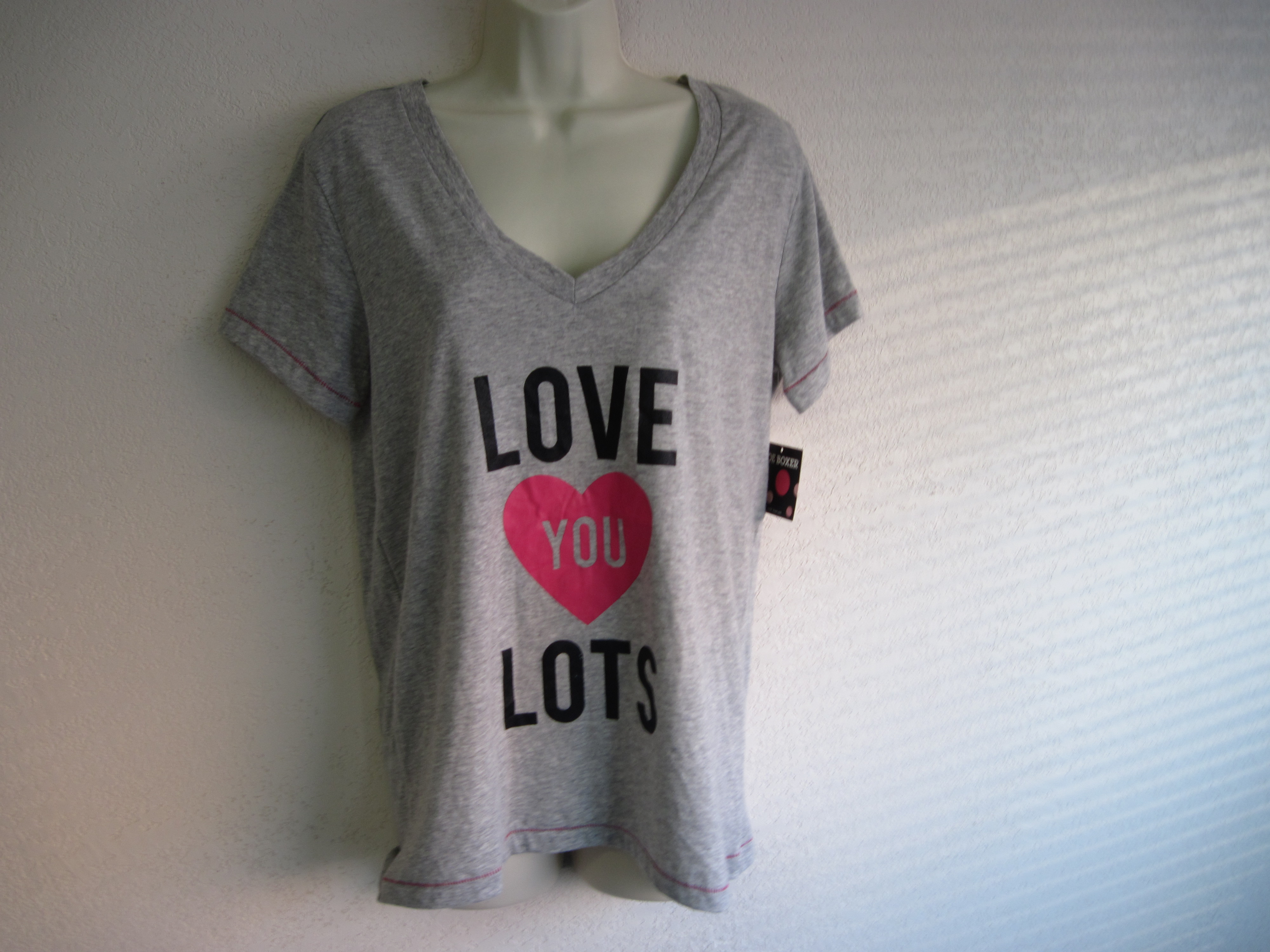 Joe Boxer Sz Lg Womens Sleep Shirt (Love You Lots)